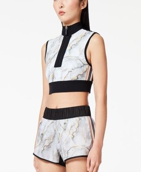 NO KA'OI Marble cropped top