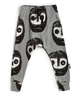 NUNUNU Warriors Baggy Pants - Grey