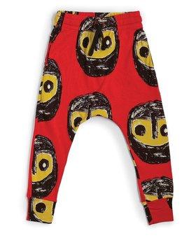 NUNUNU Warriors Baggy Pants - Red