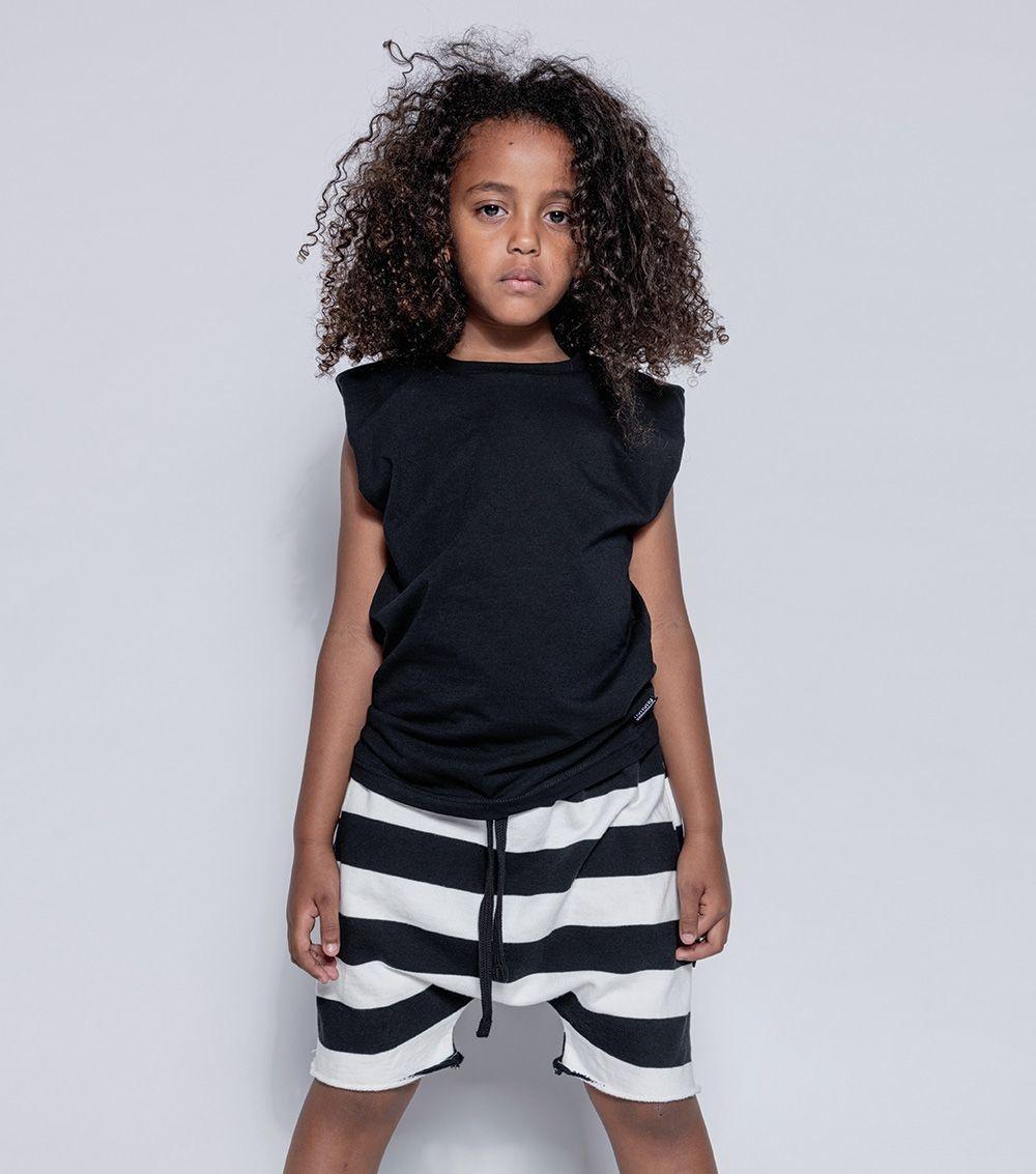 NUNUNU Stripe Rounded Shorts