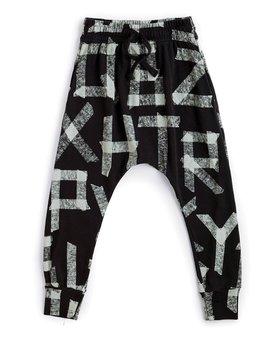 NUNUNU Masking Tape Baggy Pants