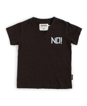 NUNUNU No! V Shirt  - Black