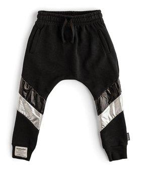 NUNUNU Side Shine Baggy Pants
