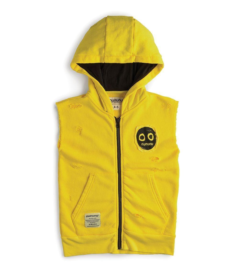 NUNUNU Deconstructed Growth Vest Yellow