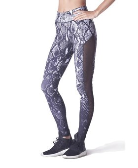 Michi Stardust Legging - Black & White Python