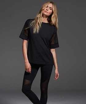 Varley Rutline Tee Black