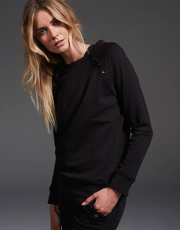 Varley Halfmoon Sweat Black