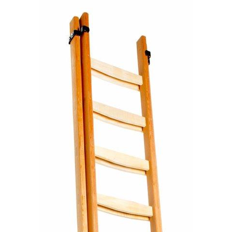 Schiebeleiter aus Holz 2-teilig gerade