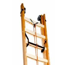 Seilzugleiter aus Holz 2-teilig