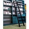 Bibliotheksleiter aus Eichenholz schwarz lackiert