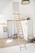 Hochbettleiter aus Buchenholz (Tischlertreppe)