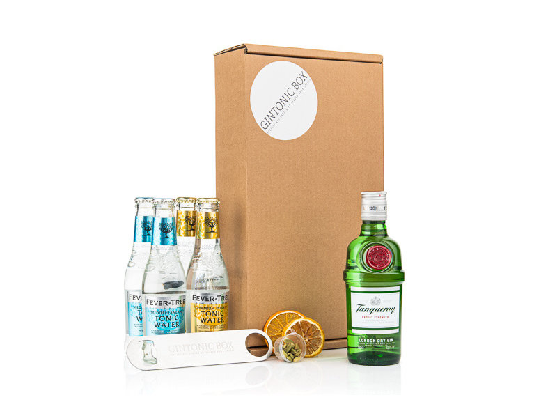 Tanqueray gin & Fever Tree tonic