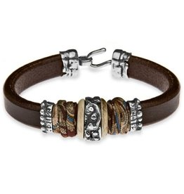 Armband brown leather L37A T