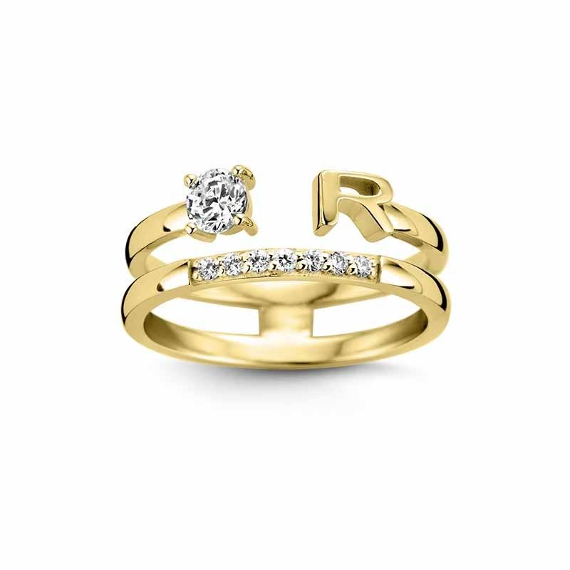 Nomelli Jewelry Iniziali 88-2300 Gouden ring
