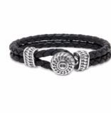 Buddha to Buddha 220BL Ben Leather Knot Black