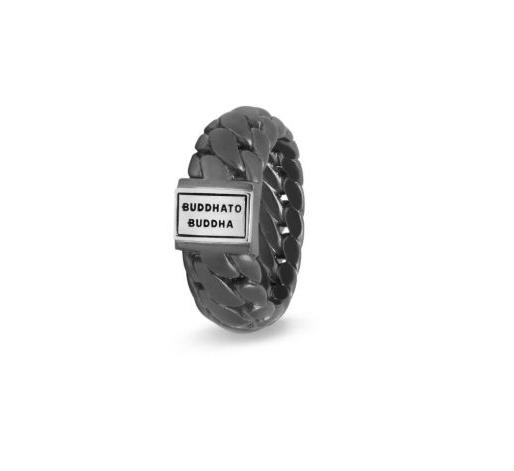Buddha to Buddha 542BRS Ben Small Ring Black Rhodium Silver
