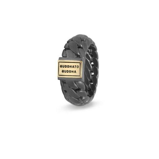 Buddha to Buddha 542BRG Ben Small Ring Black Rhodium Gold