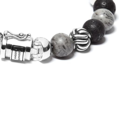 Buddha to Buddha 188MG Spirit Bead Mix Grey Picasso Jasper