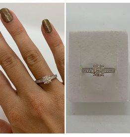 14 krt Goud Collectie Witgouden ring met diamant