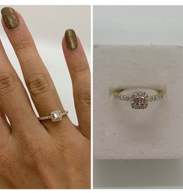 14 krt Goud Collectie Geelgouden ring met diamant