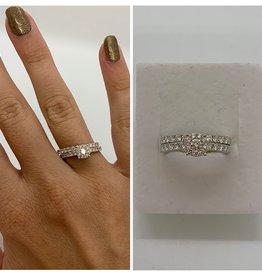 Witgouden ringen met diamant (set)