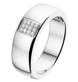 14 krt Goud Collectie Wit gouden diamanten ring