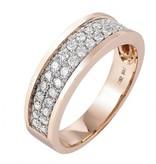 14 krt Goud Collectie 14 krt Rose gouden ring met 34 briljanten