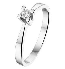 14 krt Goud Collectie 0,1crt Diamanten ring