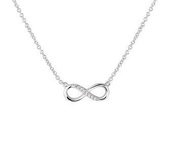 Zilveren collectie Infinity Collier