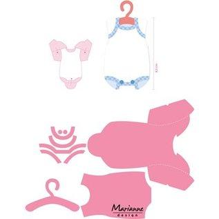 Marianne Design Stanzschablonen, Eline's Baby-Strampler mit Kleiderbügel mit Video Anleitung -zurück vorrätig!
