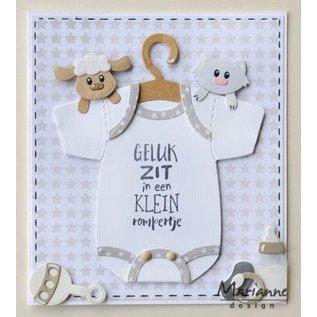 Marianne Design Stencils, Eline's Baby Onesie with Hanger with Video Instructions
