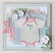 Marianne Design Stencils, Eline's Baby Onesie with Hanger with Video Instructions