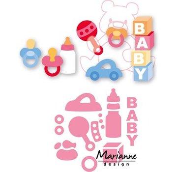Marianne Design Snij en embossing Sjablone, Eline's babymateriaal