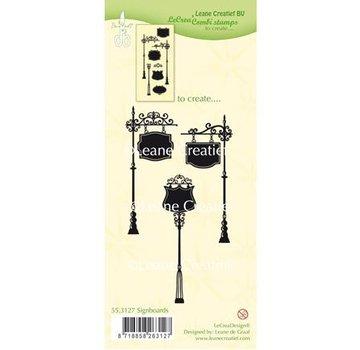 Leane Creatief - Lea'bilities und By Lene Gennemsigtige frimærker: Skilte