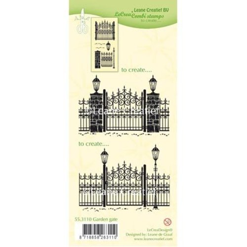 Leane Creatief - Lea'bilities und By Lene Transparante stempels: Garden Gate