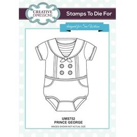 CREATIVE EXPRESSIONS und COUTURE CREATIONS Gummi Stempel, Baby