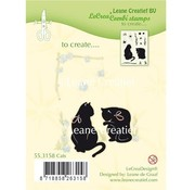 Leane Creatief - Lea'bilities und By Lene Transparent Stempel: Katze