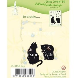 Leane Creatief - Lea'bilities und By Lene Transparant stempel: Cat