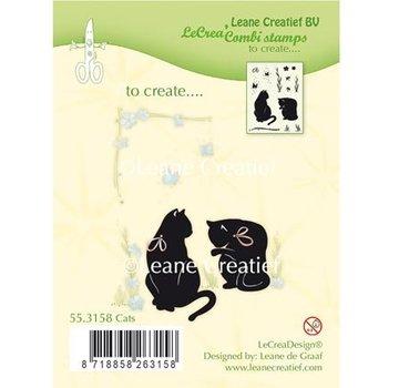 Leane Creatief - Lea'bilities und By Lene Transparent stempel: Cat