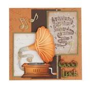 Leane Creatief - Lea'bilities und By Lene stampi di taglio: Gramophone Vintage