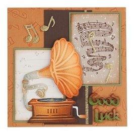 Leane Creatief - Lea'bilities und By Lene Stanzschablonen:Vintage Gramophone