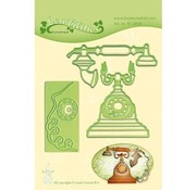Leane Creatief - Lea'bilities und By Lene Cutting dies: Vintage phone