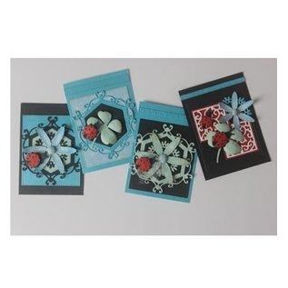 Joy!Crafts / Jeanine´s Art, Hobby Solutions Dies /  Stempelen stencil + stempel SET: lieveheersbeestje & Klavers