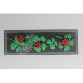 Joy!Crafts / Jeanine´s Art, Hobby Solutions Dies /  Stamping stencil + stamp SET: ladybug & Shamrocks