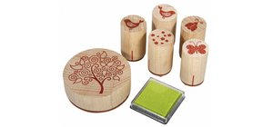 Stempel / Stamp: Holz / Wood