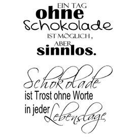Stempel / Stamp: Transparent Stempel Transparent, Text Deutsch