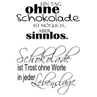Stempel / Stamp: Transparent Stamp Transparant, Tekst Duits
