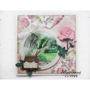 Marianne Design Ponsen sjabloon: Tiny's Rose