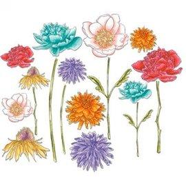 Sizzix La perforación de la plantilla, jardín de flores