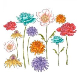 Sizzix Punching gabarit, jardin fleuri